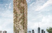 t[RE]e-Forming: Wood Skyscraper – Recycling Waste In Urban Centers