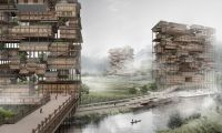 Hmong Skyscraper Is A Stack Of Traditional Houses Unified By Vertical Public Space