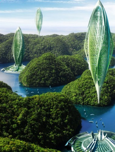 Flying Cities Powered By Bio Fuels Evolo Architecture