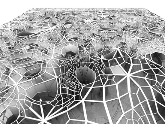 Geotube Building Grows Its Own Structure And Skin From Sea