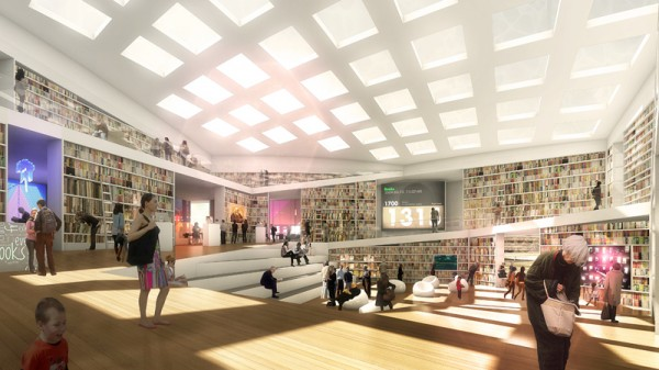 Adept Architects Wins Swedish Media Library Competition with