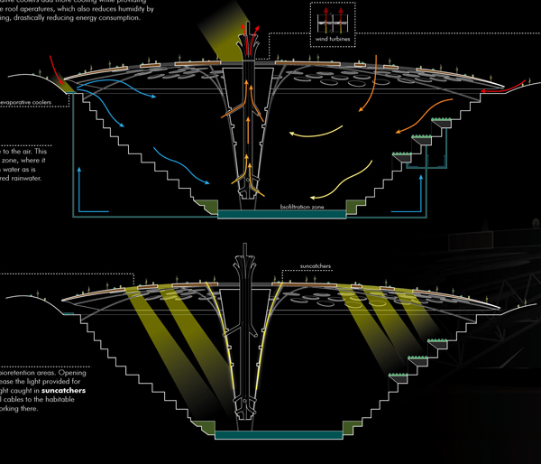 Krubera Cave Diagram Schematic of the interior