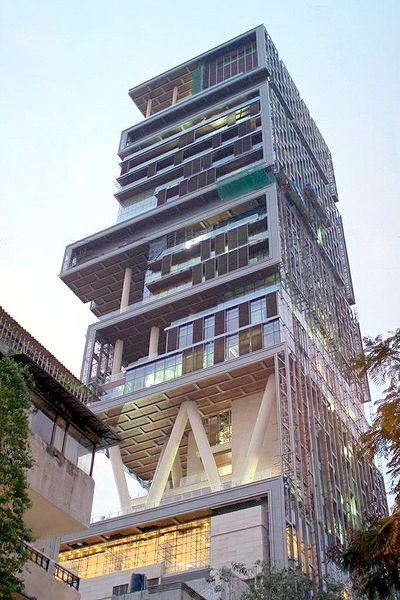 Time Magazine Has Reported That The Most Expensive Home In World Been Completed Owner Mukesh Ambani Is Fourth Richest Man