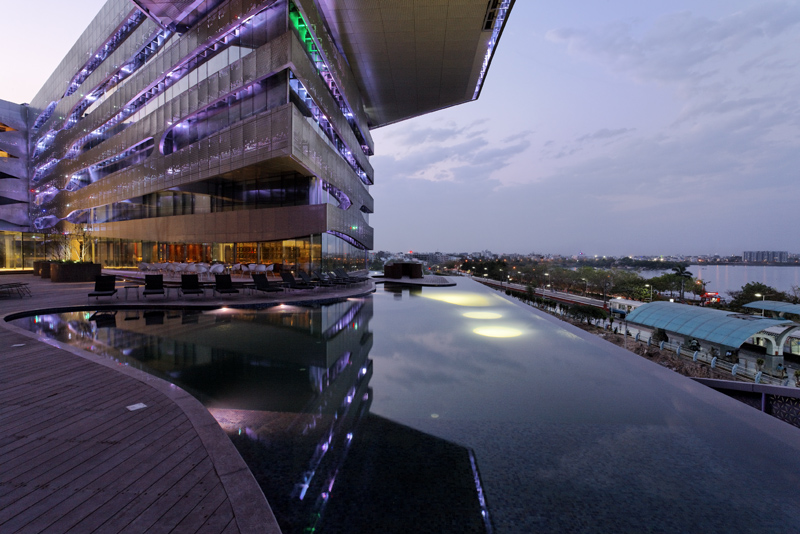The park hotel hyderabad combines high performance design - Swimming pool construction cost in hyderabad ...