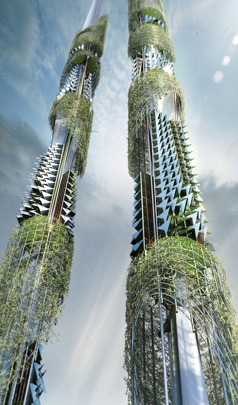 The Taiwan Tower Is A Sustainable Twin Syscraper For The 21st Century EVolo