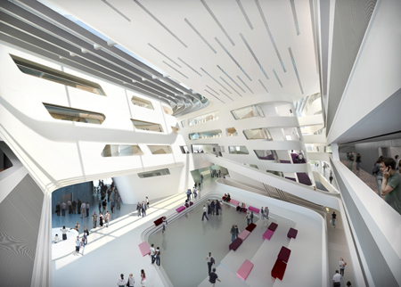 University of vienna library and learning centre zaha for Zaha hadid vienna