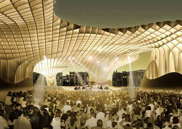 The metropol parasol a new outdoor icon and gathering for Architecture fantastique