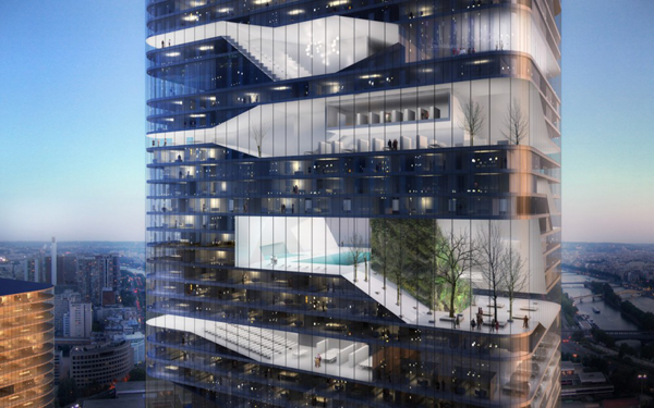 Parisian Tower Proposes Modern Design On The River Siene