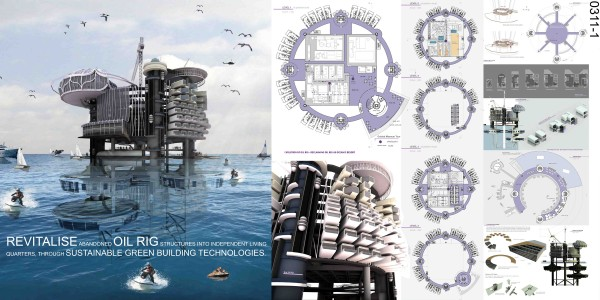 Transforming Abandoned Oil Rigs Into Habitable Structures