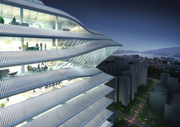 Louvers Transform Office Skyscraper Into Towering Chinese