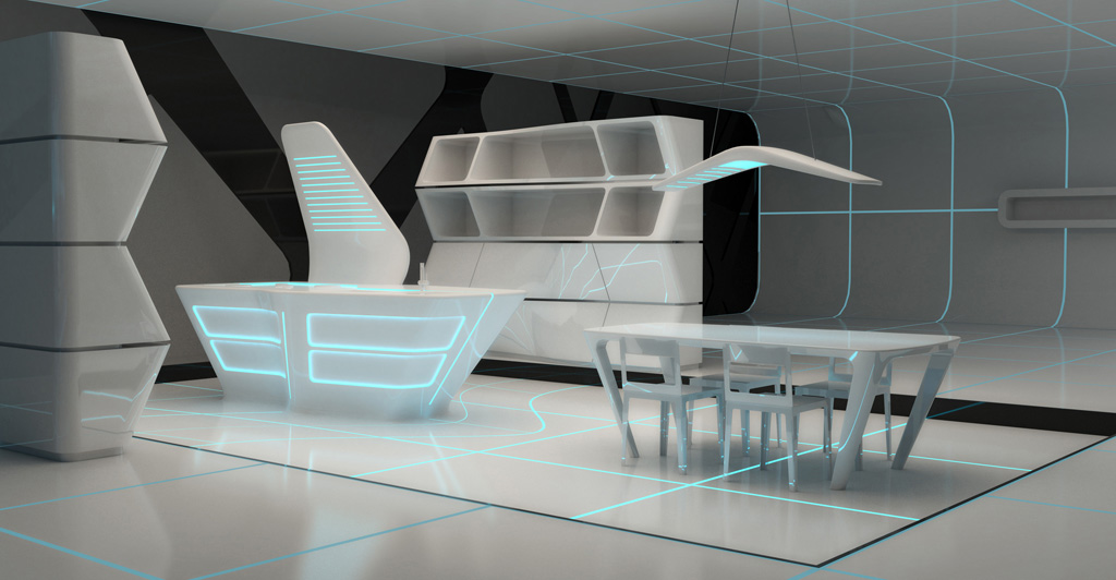 Kitchen Inspired By Tron Legacy Aquilialberg Evolo