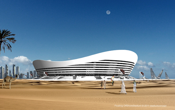 Developed By The German Architects Stadiumconcept For The FIFA World Cup  2022 The Floating Off Shore Stadium Represents An Extraordinary And  Ambitious ...