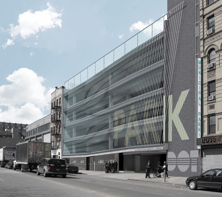 Garage Design Architecture: NYC Garage To Get Innovative Cable Façade / Michielli