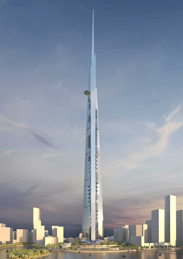Kingdom Tower The World S Tallest Building Adrian Smith Gordon Gill Evolo Architecture