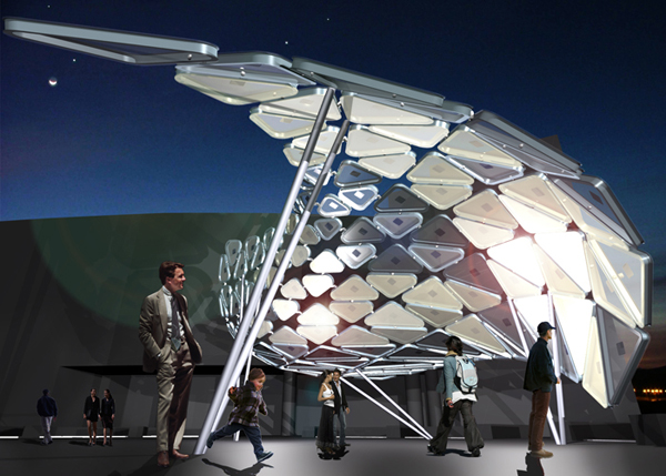 Solar Shift is an interactive light installation for Evansville ...