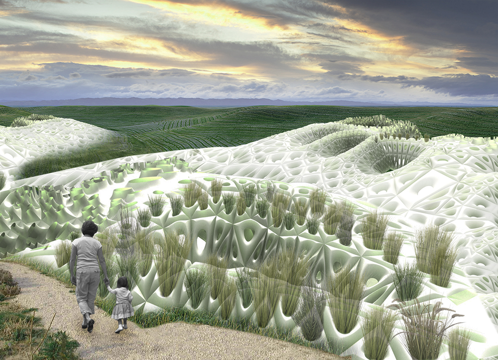 Parametric Watershed Landscape In New York City Evolo