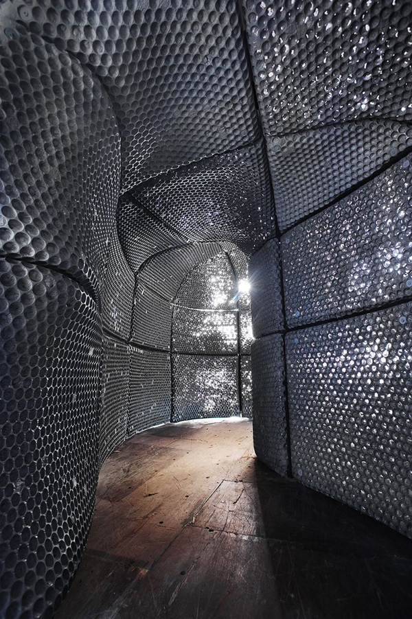 Sculptural space illustrates different aspects of for Space architecture