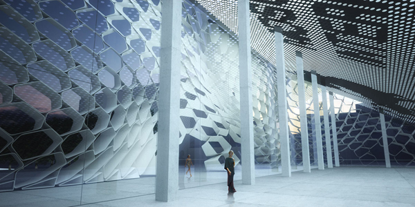 New Parametric Facade for Pushkinsky Cinema / Synthesis Design +