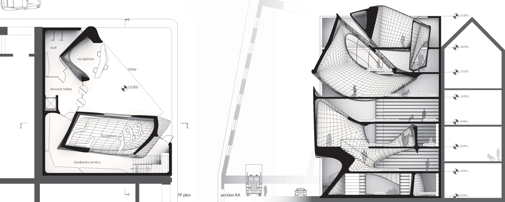 Public library is a study of solids and voids evolo for Solid void theory architecture