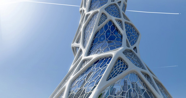 Bionic tower combines structure and ornament lava for Architecte structure