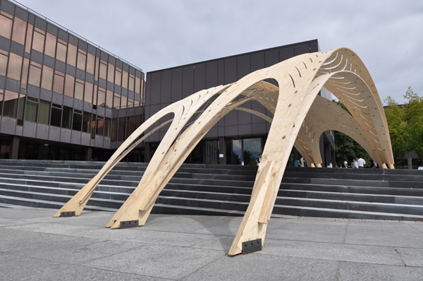 Temporary timber pavilion evolo architecture magazine for Pavilion architecture design