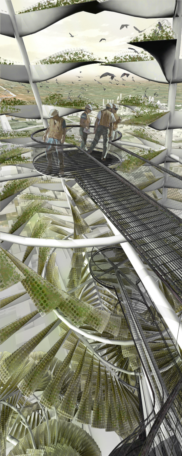 Urban Vertical Farming Generative System For A Vegetable