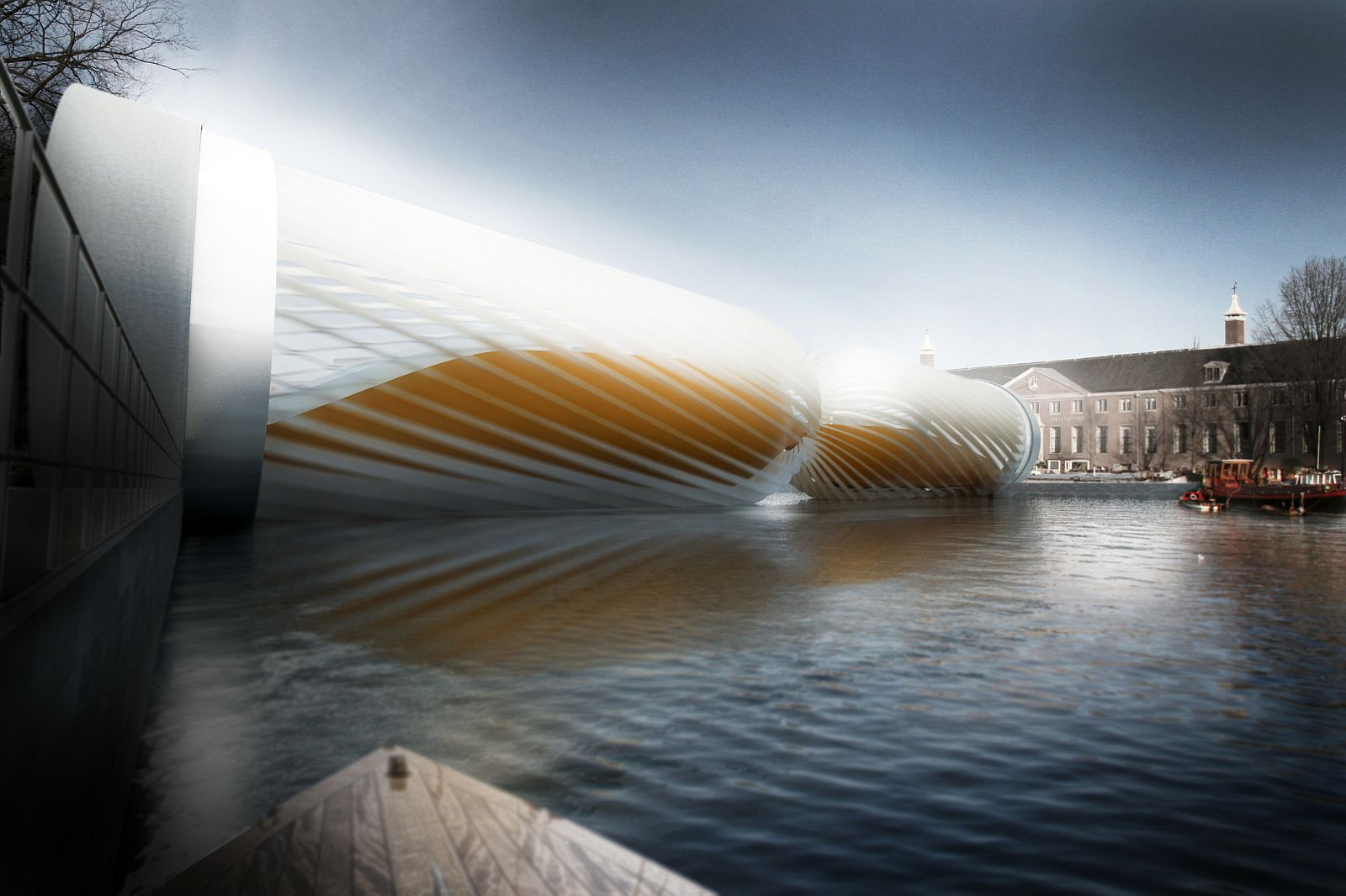 Turbine amsterdam bridge evolo architecture magazine for Design bridge amsterdam