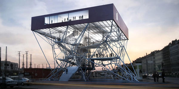 Infobox for vienna is an elevated volume with multiple viewing platforms karamba3d evolo - Architecturen volumes ...