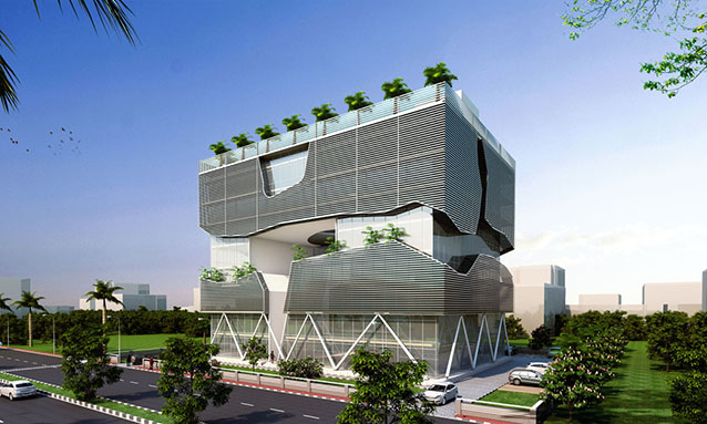 Architecture Review Lucknow Headquarters Is A Sustainable Building With Passive Systems