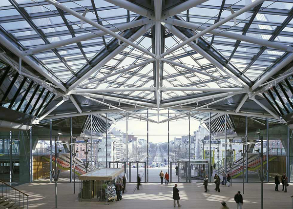 Antwerp's New Law Courts, Stirk Harbour + Partners, institutional architecture, natural lighting, paraboloid roof