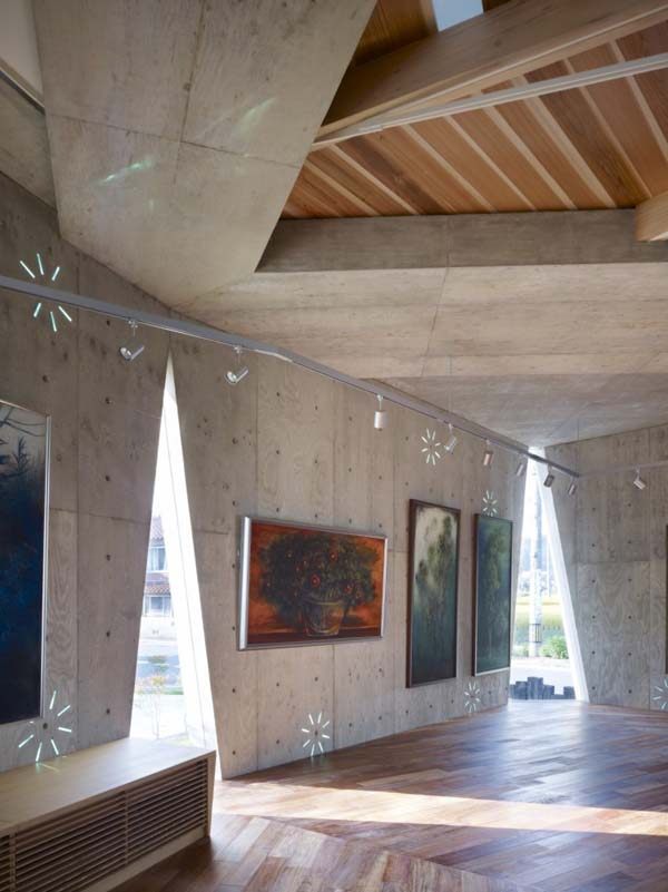 Mecenat Art Museum Naf Architect, museum architecture, natural lighting, concrete architecture, japan, exhibition space