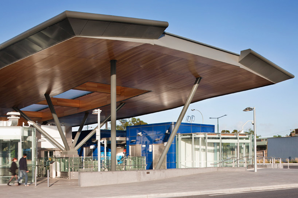 Nunawading Station, Grimshaw Architects, rail station, public transportation, canopy