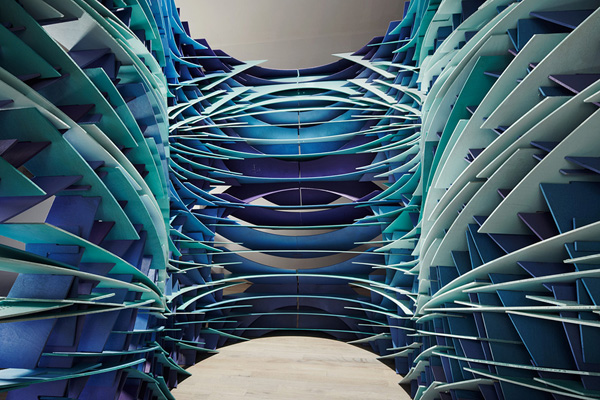 Slipstream, FreelandBuck Architecture, 3d installation, digital fabrication, cnc plywood