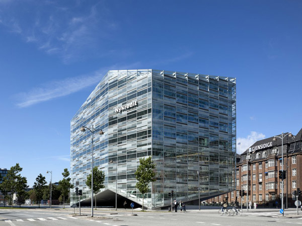The Crystal Schmidt Hammer Lassen Architects, danish architecture, copenhagen architecture, office building, nykredit, glass facade, crystal architecture