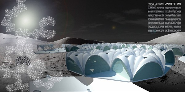 Parametric designed performative system for outer space for Outer space architecture