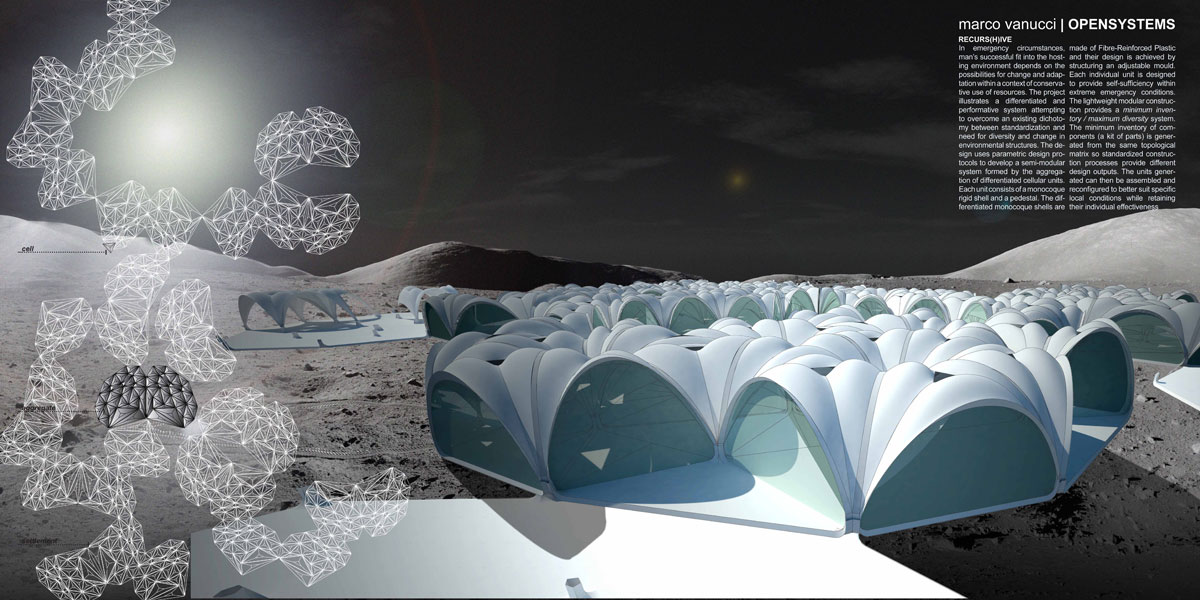 Parametric designed performative system for outer space for Outer space design landscape architects
