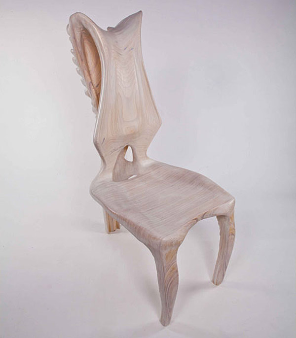 Exocarp Chair, Guillermo Bernal, chair design, biomimetic design, organic furniture