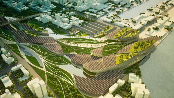 Infiltrated Cultural and Ecological Urbanism Maxthreads, urban agriculture, Kaohsiung, Taiwan architecture, masterplan design, sustainable urbanism