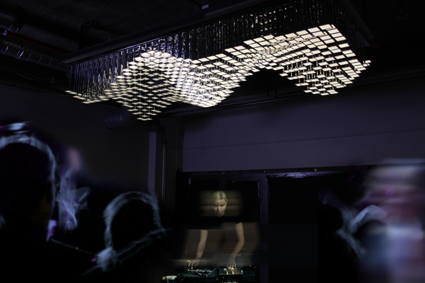 LivingSculpture 3D modular system, Whitevoid, lighting system, interactive installation, art sculpture, oled lights, digital design