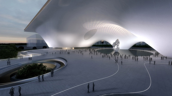 National Art Museum of China, MAD Architects, architecture competition, museum architecture, floating architecture, 2008 Olympics