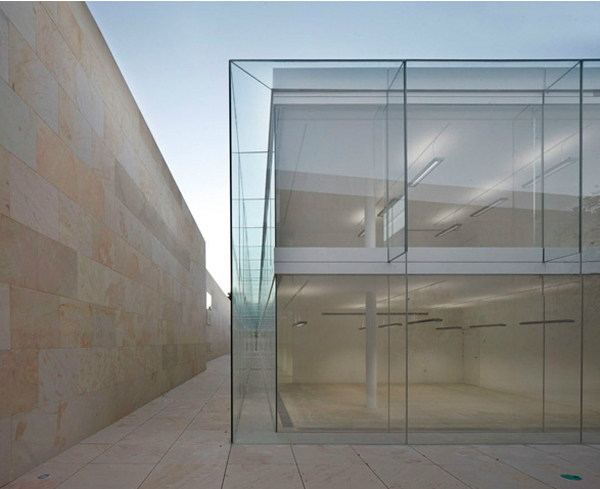 Offices for Junta Castilla y León Alberto Campo Baeza, office architecture, glass façade,  Spanish architecture, Junta Castilla y León offices, greenhouse effect