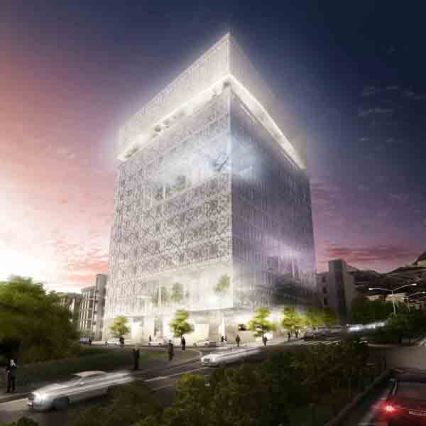 Tehran Stock Exchange Proposal Hadi Teherani Office + Design Core, architecture competition, public building, wind-catcher, iranian architecture