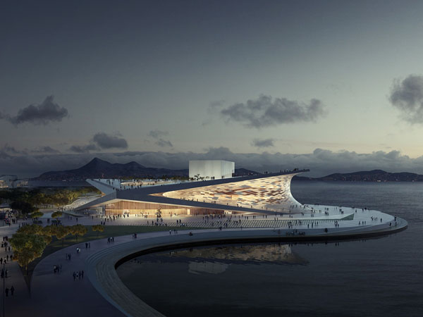 Snøhetta, Busan Opera Competition, South Korea architecture, architecture competition, cultural architecture, opera house design, Norwegian architects