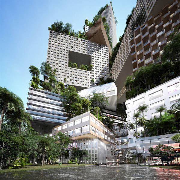 Mvrdv, peruri 88, jakarta architecture, tower city, vertical city, arup, housing typology, Jerde Partnership, highrise architecture