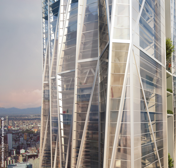 Rojkind Aqutectos, mexico city architecture, innovative tower, residential skyscraper, reforma 432, urban scale, mixed use skyscraper