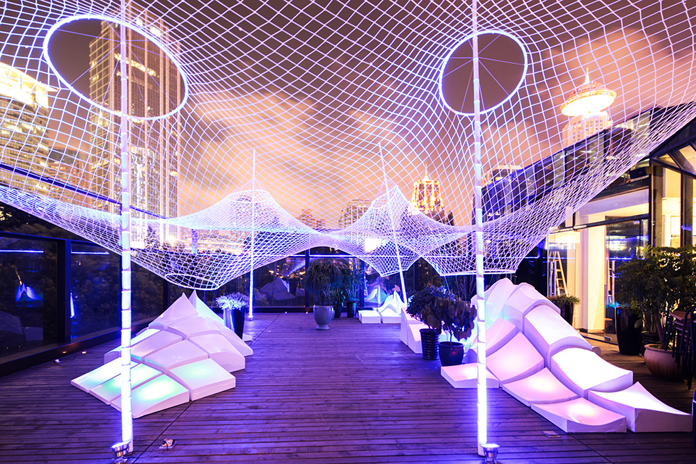 The design of this temporary installation ... & Minimal Relaxation: Temporary Canopy and Landscape Installation at ...