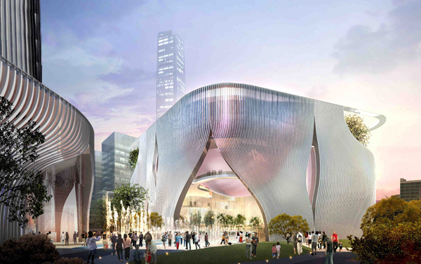 Bing Thom Architects, Xiqu Center, hong kong architecture, lantern, cultural center, traditional Tea House, auditorium architecture, multi-program building, chinese architecture