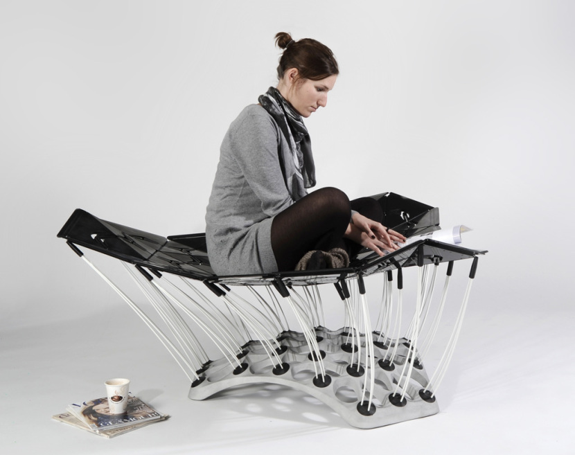 Chair Bed Stool That Constantly Adapts To The Human Body