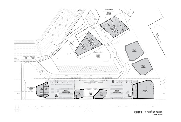 Taiwanese Keelung Harbor Building competition, PAR | Platform for Architecture + Research, SES | Sériès et Sériès, Neil Denari, Taiwan, harbor, international competition, mixed use, prismatic structure, landmark building