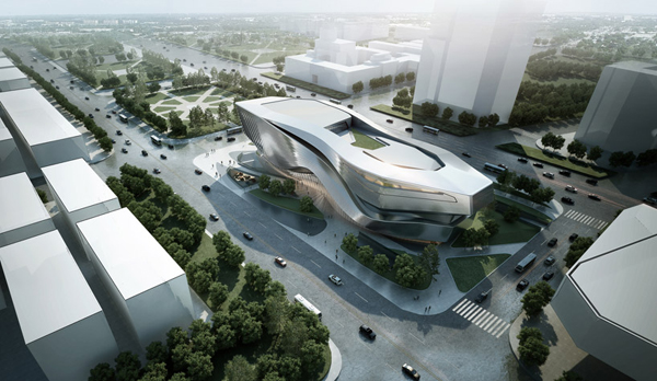 New Dalian Museum, Dalian, China, New Planning Museum, 10 Design, green architecture, landmark architecture, museum design, nautical forms, polymer coating, sustainable design, titanium dioxide, zinc rain screen